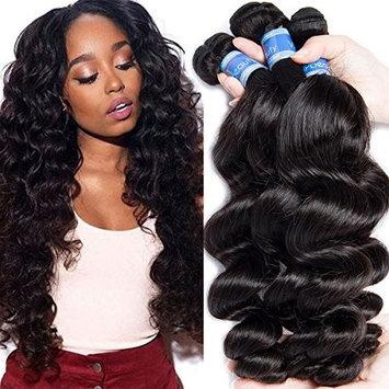 VIPbeauty Remy Hair Extension Bundles Malaysian Hair 4 Bundles Loose Wave Hair Grade 10A Human Hair Virgin Bundles (16 18 20 22inch)