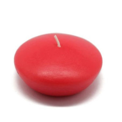 Zest Candle CFZ-051 3 in. Ruby Red Floating Candles -12pc-Box