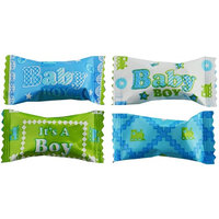 Party Sweets Baby Boy Blessing Buttermints by Hospitality Mints, Appx 300 mints, 7-Ounce Bags (Pack of 6)