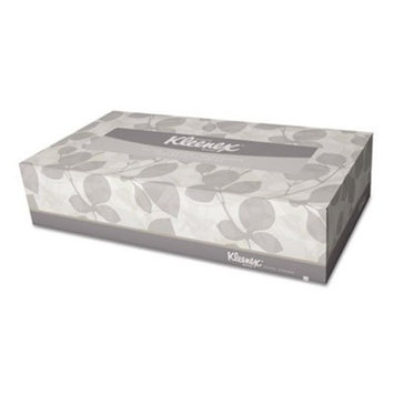 KIMBERLY-CLARK PROFESSIONAL* KLEENEX White Facial Tissue, 2-Ply, POP-UP Box, 100/Box