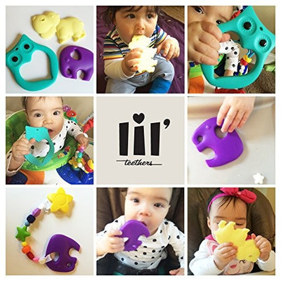 Lil' Teethers Baby Teething Toys. Bendable & Freezer friendly. Highly Recommended by Moms. 100% Silicone (similar to nipples & pacifiers), BPA & Phthalates Free, FDA Compliant. Raccoon