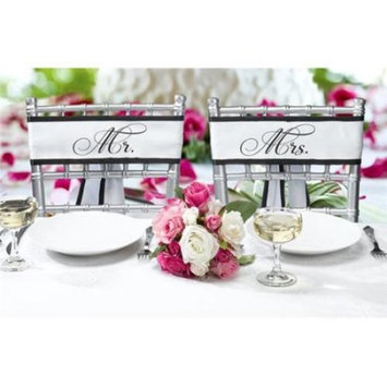 Lillian Rose Mr. and Mrs. Wedding Chair Decor Sashes