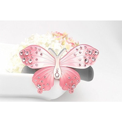 Exquisite Rhinestone butterfly hair clip Fashion Lovely Barrettes jewelry girl, Light pink