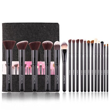 Makeup Brushes Z'oreya18pcs Essential Makeup Brush Tools Soft Synthetic Fiber Cosmetic Sets Blending Lip Contour Brushes For Make Up