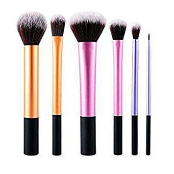 Make-up Brush Set 6PCS with Pro Beauty Makeup Sponge with MakeUp Brush Cleaner and Pro Beauty Makeup Sponge