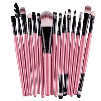 Makeup Brushes, Franterd 15 pcs/Sets Eye Shadow Foundation Eyebrow Lip Brush Tool