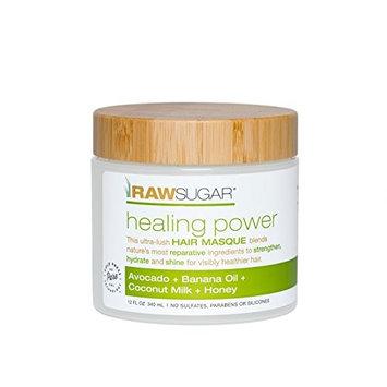 Raw Sugar healing power Hair Masque Avocado + Banana Oil + coconut milk = Honey 12fl oz, pack of 1