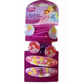 Princess Hair Accessories - Disney Princess Hair Snap Clips Bands (6 Pieces)