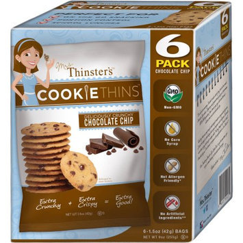 Mrs. Thinster's Cookie Thins Chocolate Chip Cookies, 1.5 oz, 6 count