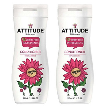 Attitude Kids Conditioner (Pack of 2) With Soybean Oil and Shea Butter, 12 fl. oz. Each