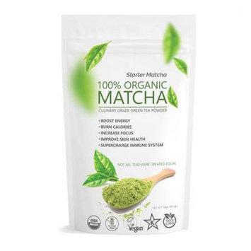 Wmbr Corp Culinary Starter Matcha (16oz) USDA Organic, Kosher; Non-GMO, Vegan and Gluten Free, Pure Green Tea Matcha Powder