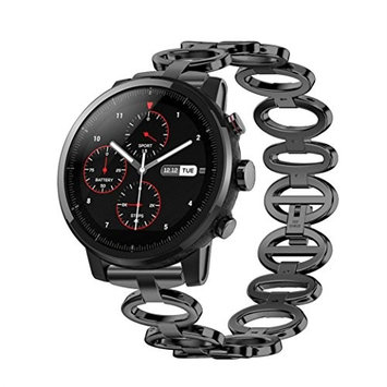 Bands for Huami Amazfit 2S,AutumnFall 1PC Stainless Steel Chain Style Bracelet Smart Watch Band Strap For Huami Amazfit 2S,22mm Width/179mm Length