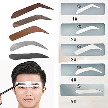 Ochioly 10 pcs Professional Eyebrow Stencils for Man 5 Types Reusable Eyebrow Template Make Up Tools Stencils for Eyebrows