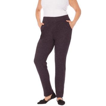 Plus Moda Women's Plus Side Zip Knit Pant
