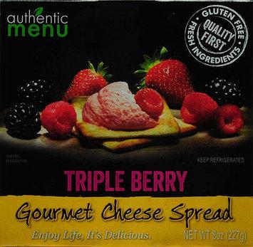 Authentic Menu Am Cream Cheese Spread Triple Berry 8oz