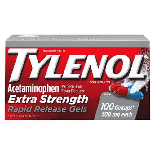 Tylenol Extra Strength Rapid Release Pain Reliever and Fever Reducer Gelcaps - Acetaminophen - 100ct
