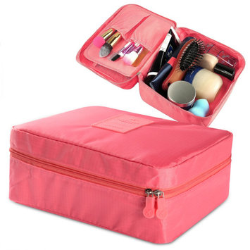 Zodaca New Women Travel Cosmetic Bag Makeup Case Toiletry Organizer Pouch (8.27