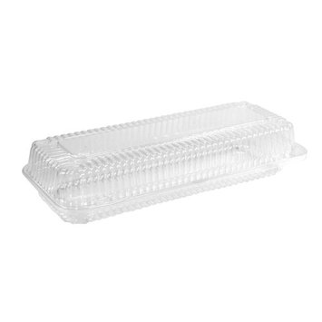 12 x 5 x 2 Hinged Small Danish Clear Hinged Container, Case of 250