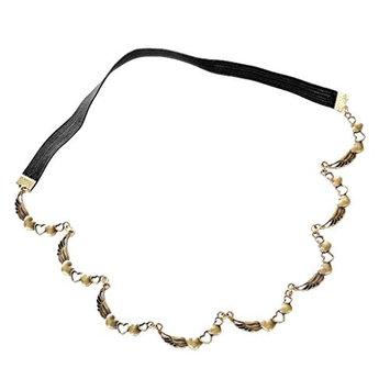 MagiDeal Bohemian Antique Bronze Heart Love Wing Forehead Chain Headband Girl Jewelry