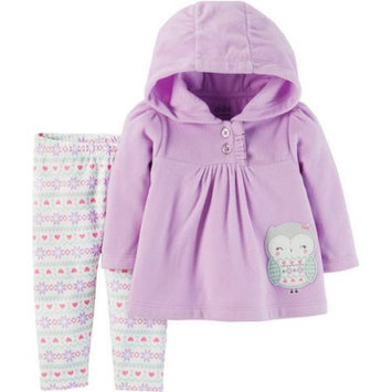 Child of Mine by Carter's Baby Girl Hoodie and Pants, 2pc Outfit Set