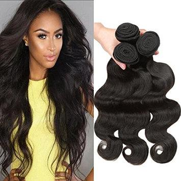 BLACKMOON HAIR Indian Hair Body Wave 3 Bundles 24 24 24Inch Indian Body Wave Indian Virgin Hair Weaves Human Hair Extensions Natural Black Color