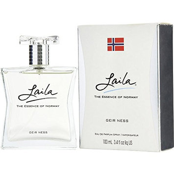LAILA by Geir Ness EAU DE PARFUM SPRAY 3.4 OZ (NEW PACKAGING) for WOMEN ---(Package Of 3)