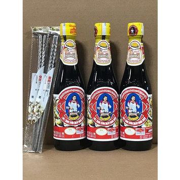KC Commerce Maekrua Thai Oyster Sauce Maekrua 11oz With 2 Pairs Stainless Steel Chopsticks FREE