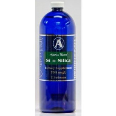 Silica Supplements by Angstrom Minerals - Liquid Ionic Silica Mineral Water 32oz 700ppm
