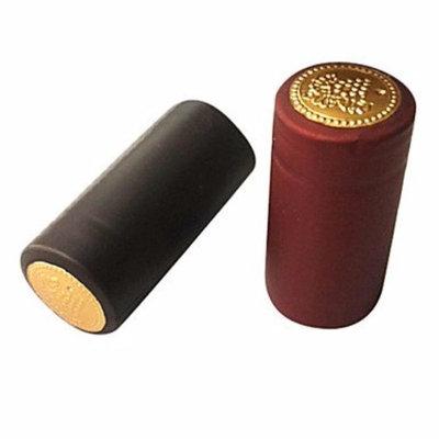 Gold Tone Burgundy PVC Wine Shrink Capsules for W