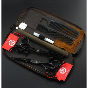 Purple Dragon Professional Japan Hair Salon Cutting Thinning Scissors Black Color Hairdressing Shears Set with Bag