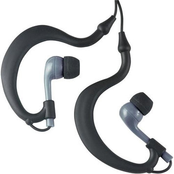 Fitness Technologies UWater Triple Axis Action Stereo Earphones, 100% Waterproof, Black/Grey