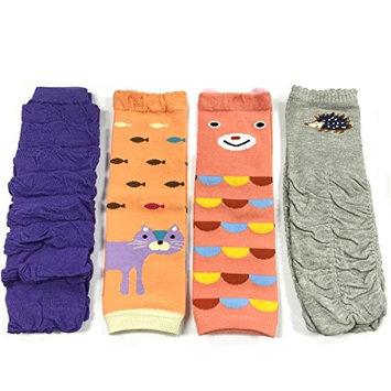 ALLYDREW 4 Pack Baby Leg Warmer Set & Toddler Leg Warmer Set for Boys & Girls