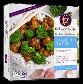 Feel Good Foods Gluten Free General Tso's Chicken, 9 Oz (Frozen)