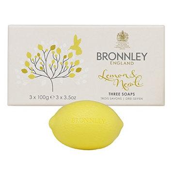 Bronnley England Lemon & Neroli Soaps for Women, 3.5 Ounce