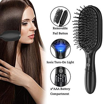 BMK Ionic Hair Brush Ion Detangler Brush Anti-Static Curved Vented Detangling Hair Brush Hair Styling Combs for Women with Long Thick Thin Curly... [Upgraded]