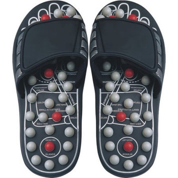 Ab Marketers Living Healthy Products RS-004-01-L Large Reflexology Sandals Pearl in Black