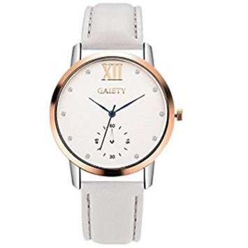 Women Fashion Watch,FUNIC Leather Band Analog Quartz Round Wrist Watch
