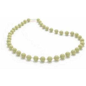 Bitey Beads Classic Silicone Teething Nursing Necklace - Moss Green