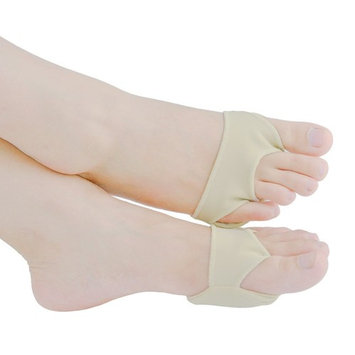 Welnove- Ball of Foot Cushions Anti-Slip Metatarsal Pads,Forefoot Cushion Pain Relief for Mortons Neuroma - 2 Pieces Beige L