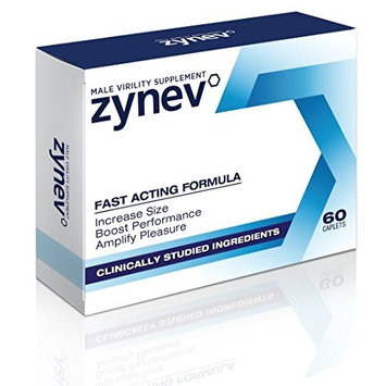 Zynev - Natural Male Enhancement - Proven Results - Take Control of Life Again! (1 Box)