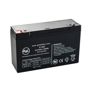 Trio Lighting TL930096 6V 10Ah Emergency Light Battery - This is an AJC Brand® Replacement