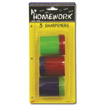 TAPE IT 351832 Pencil Sharpners 3 Pack Case of 48