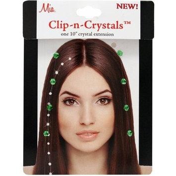 Mia Clip-n-Crystals Hair Crystals, Green, 1 Ounce []