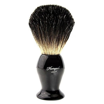 Pure Badger Natural Hair Black Bristle Shaving Brush with Steel Handle