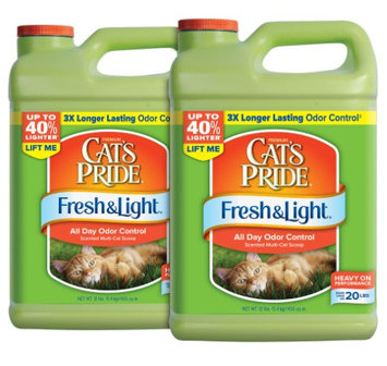 Cat's Pride Fresh and Light All Day Odor Control Scented Multi-Cat Scoop Litter 2-Pack Standard Packaging