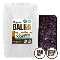 Bali Blue Moon Organic, Rain Forest Alliance, Whole Bean coffee, Fresh Roasted Coffee LLC.