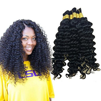 Hannah Deep Weave Bulk Braiding Hair, 100% Human Hair,Micro Braids,Hot Selling,Mixing length 50g Each Bundle (16