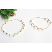 yueton 4pcs Gold and Silver Leaves Headwear Hair Bands Headbands