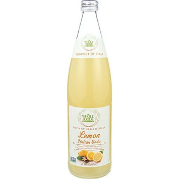 Whole Foods Market, Lemon Italian Soda, 25.4 fl oz