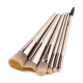 Professional 6pcs Makeup Brushes Set Powder Foundation Eyelash Eye Shadow Contour Synthetic Wood Handle for Women Beauty